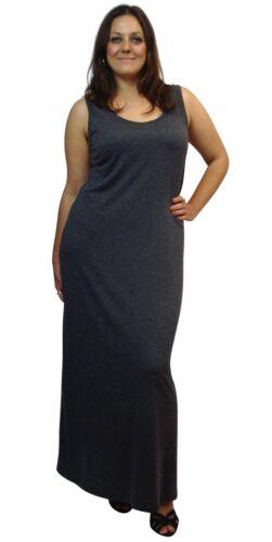 NEW Plus Size Long Full Length Basic Solid Maxi Tank Dress XL//1X-2X-3X-4X-5X-6X