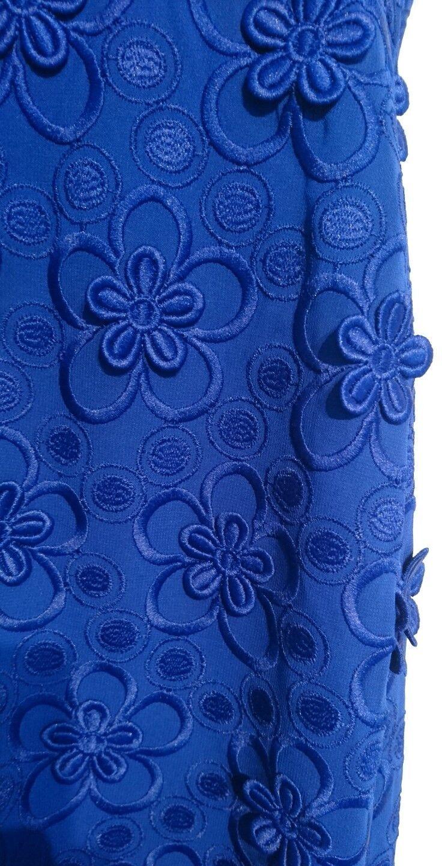 Monsoon Fiji Azul 3D 3D 3D Diseño Floral Vestido Talla 14 BNWT rodilla con textura Bandeau c3f26d