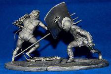 Zinnfiguren Gefecht der Gladiatiren 54mm Bausatz / Kit