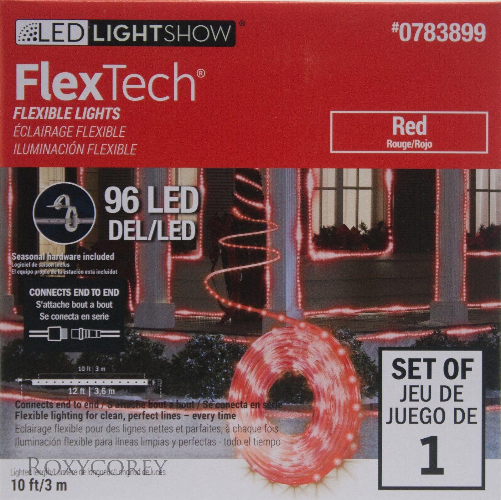 Gemmy Led Lightshow Flex Tech Red 96 Led Flexible Lights 10ft Ebay