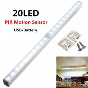 Image Is Loading 20led Wireless Pir Motion Sensor Led Strip Under