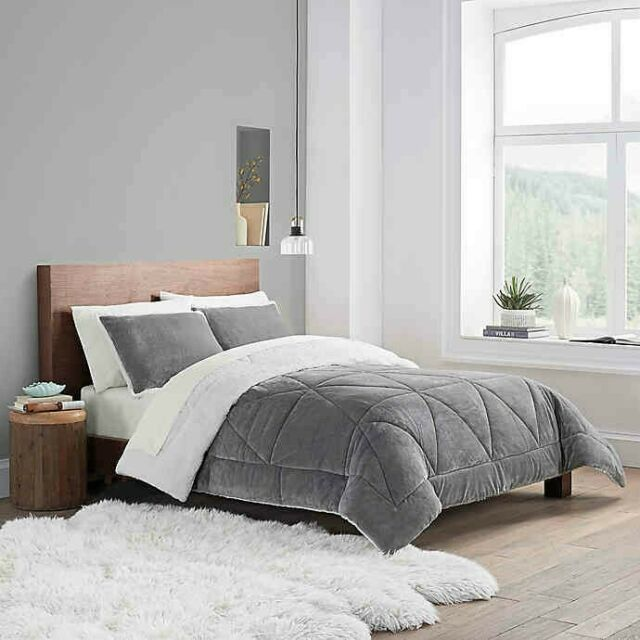 Comforter Sets Queen.Giselle Queen 12 Piece Reversible Comforter Set In Blush For Sale