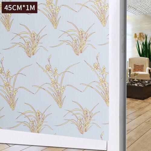 Frosted 3D Window Film Stripe Privacy Static Cling Glass Door Sticker Home Decor