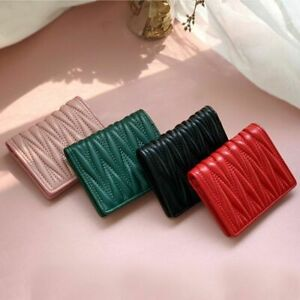 Genuine Leather Women Short Wallet Coin Purses Card Holders Folding Wallet Gifts
