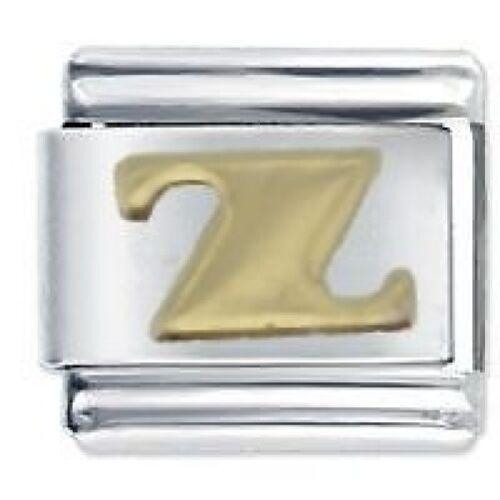 Letra Z Daisy encantos suave se adapta tamaño clásico italiano pulsera con dijes Nomination
