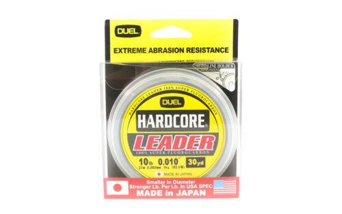 1033 Yo Zuri Hardcore Fluorocarbon Leader 30yds 10lb 0.260mm R1249-NC