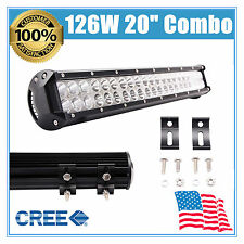 "20""126W LED COMBO Work Light Bar Offroad Fog Driving Lamp Daytime Running Lights"