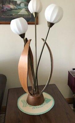 VTG Danish Mid Century Modern Teak Wood Brass Tulip Table ...