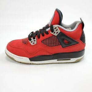 Nike-Air-Jordan-4-IV-Retro-Toro-Bravo-Fire-Red-White-Black-Cement-Grey-Size-5Y