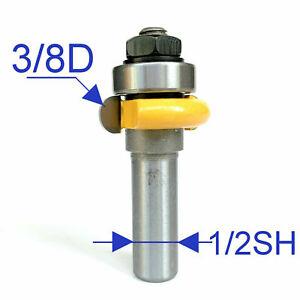 "1pc 1/2"" shank 3/8"" Diameter w/Top Bearing Flute Router Bit S"
