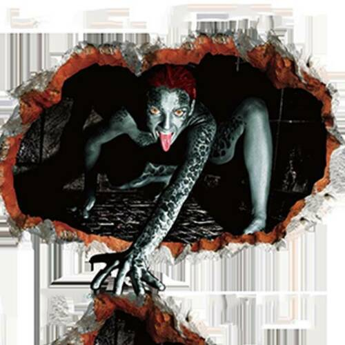 Christmas Party DIY Prop Horror 3D Wall Sticker Floor Decal Scary Haunted Decor