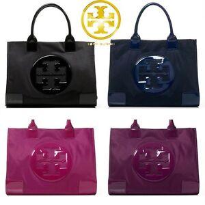 ea735ddf348 Image is loading AUTHENTIC-Tory-Burch-Ella-Tote-Nylon-Handbag-Logo-
