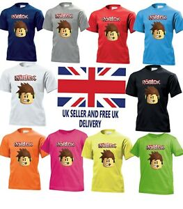 Roblox Characters Kids Online Cartoon Boys Girls Birthday Gift Top T Shirt 785 Ebay