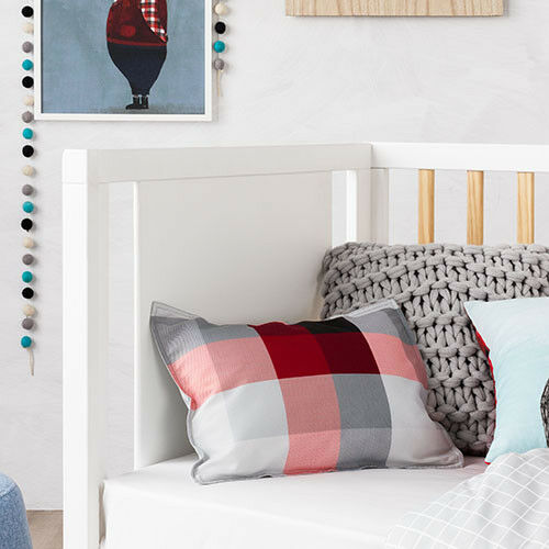 QUILT COVER SET BNIP grey Junior Bed ADAIRS KIDS Mr North Red//Black check COT