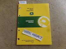 John Deere 685 Series Drawn Chisel Plow Operators Manual Omn200447