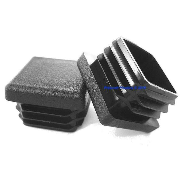 20 Pack 1//2 x 1-1//2 Inch Rectangular Ribbed Tubing Plug Insert Glide End Caps