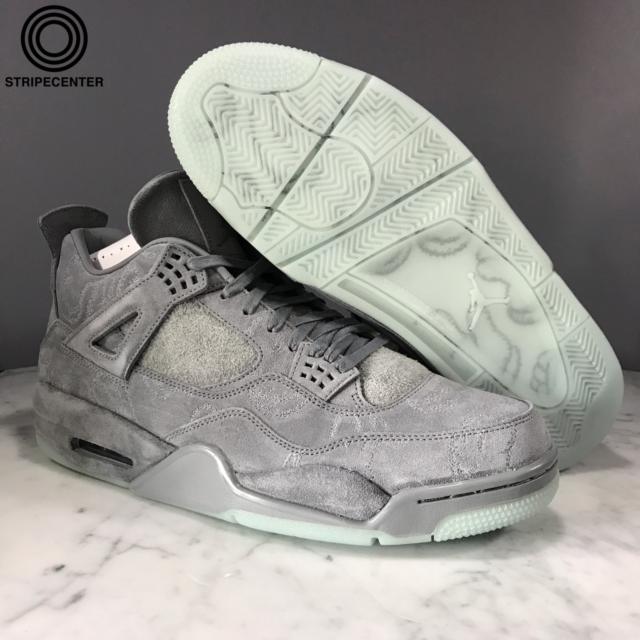 0ae6a84fe0ede7 Kaws X Nike Air Jordan 4 IV Retro Cool Grey White 930155-003 8.5 for ...