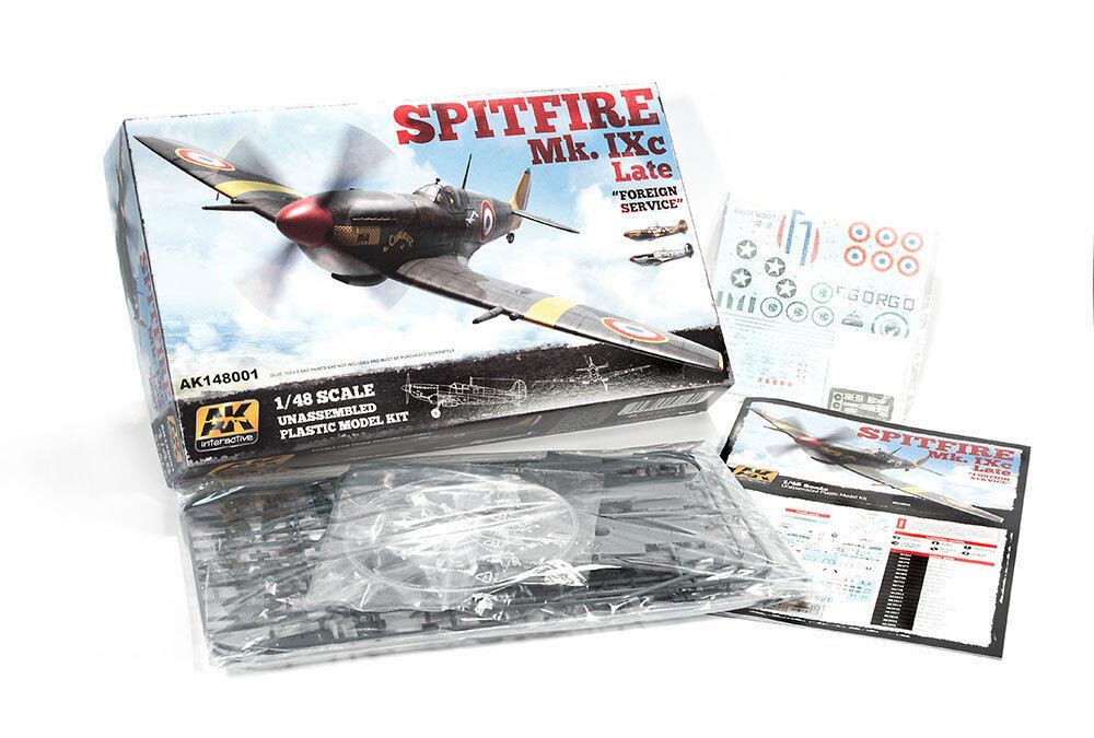 AK Interactive AK14801 Supermarine Spitfire Mk IX.C Late - Plastic modelllllerler Kit