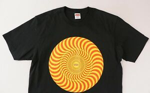 bc51012c2a48 Image is loading Supreme-x-Spitfire-Black-Classic-Swirl-Tee-T-