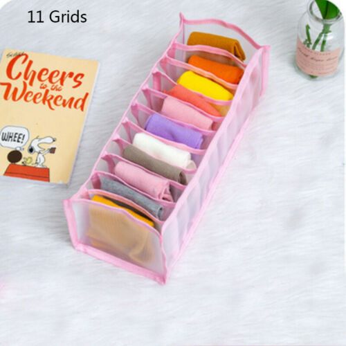 1//3PC Foldable Underwear Bra Socks Storage Box Wardrobe Organizer Drawer Divider