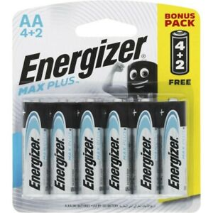 Energizer Advanced Max Plus AA Alkaline Batteries 6 pack
