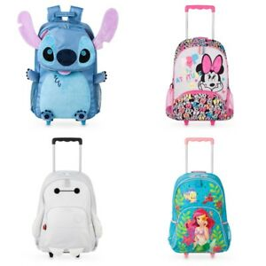 62ac220e4d79 Image is loading Disney-Store-Rolling-Backpack-Baymax-Ariel-Little-Mermaid-