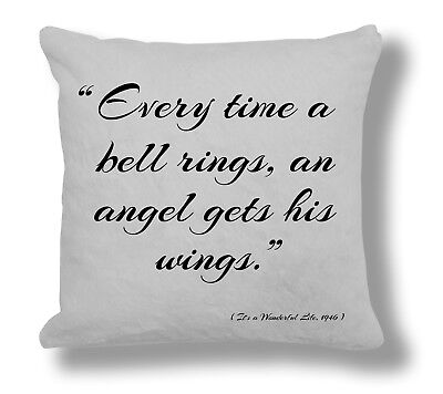 It/'s a Wonderful Life 1946 Film Quote Cushion Cover Gift FQ085