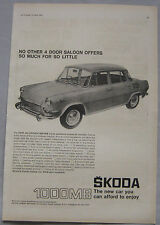 1967 Skoda 1000MB Original advert No.2