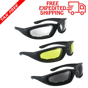 c5c97ad250 Image is loading 3-PAIR-MOTORCYCLE-RIDING-GLASSES-SMOKE-CLEAR-YELLOW-