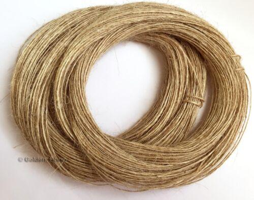 100m 1ply mince naturel marron jute hesse Burlap SHABBY RUSTIQUE string ficelle