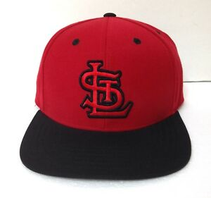 rare-unique-ST-LOUIS-CARDINALS-HAT-Red-amp-BLACK-flat-bill-STRAPBACK-men-women-cap