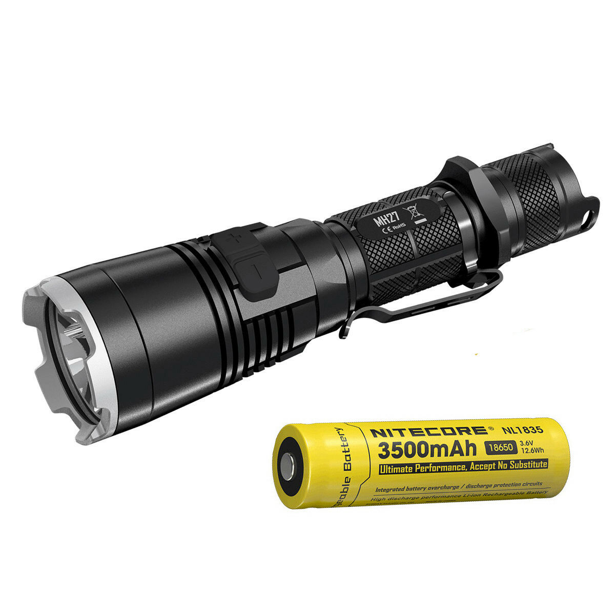 Nitecore MH27 1000 Lumens Weiß Weiß Weiß ROT Grün Blau  Flashlight with 18650 Battery 1035e7