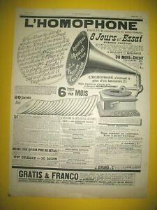 Publicite-de-Prensa-Homophone-Aparato-de-Lujo-Pabellon-Amplificador-1907
