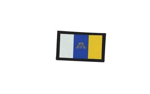 Patch ecusson brode imprime voyage souvenir backpack drapeau canaries espagne