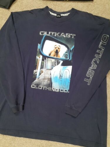Rare Vintage Outkast long Sleeve Black Rap Tee T-S
