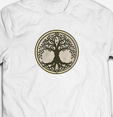 RETRO VINTAGE CELTIC TRIBAL TREE OF LIFE CIRCLE 100/% cotton Mens T-shirt TEE