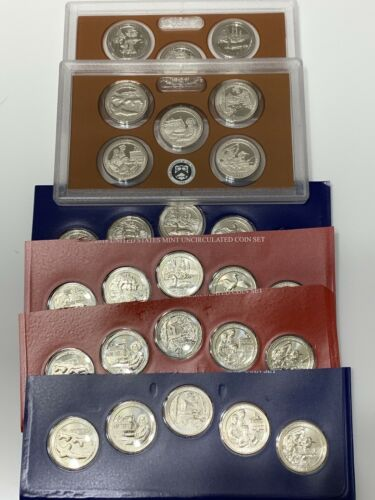 2018,2017 S,D,P Quarter Update Set 30 Coins Total