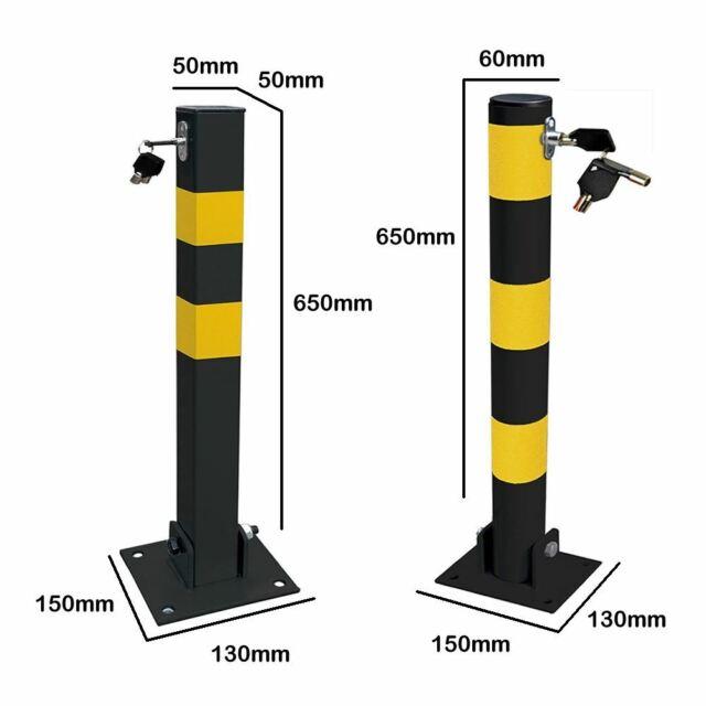 Heavy Duty Fold Down Metal Bollard for Security Driveway Parking Rocwing T1