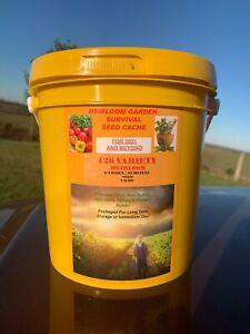 Garden Survival Seed Cache 42,000 Seed; 126 Heirloom Varieties+ $30 HERB PACK