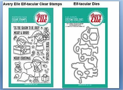 Avery Elle Photopolymer Clear Stamp /& Die Combo KITSCH CHRISTMAS ~ST//D-16-34