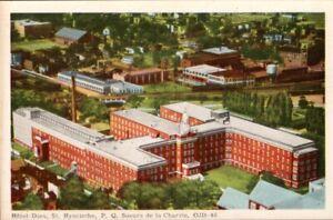 Vintage-Postcard-St-Hyacinthe-Quebec-Canada-Hotel-Dieu