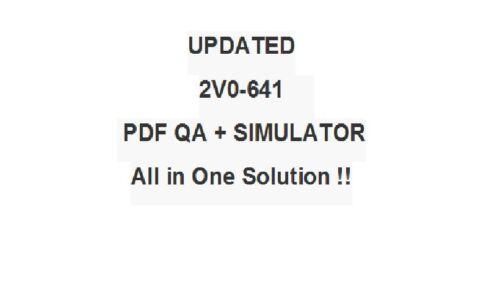 VMware Certified Professional 6 Network Virtualization Exam 2V0-641 Test QA/&SIM