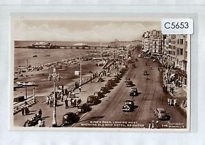 C5653cgt-UK-Brighton-Kings-Road-Old-Ship-Hotel-Waddell-039-s-vintage-postcard