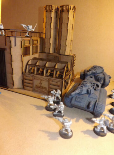 Hydrocarbon power plant warhammer 40 wargame Infinity scenery wargaming building