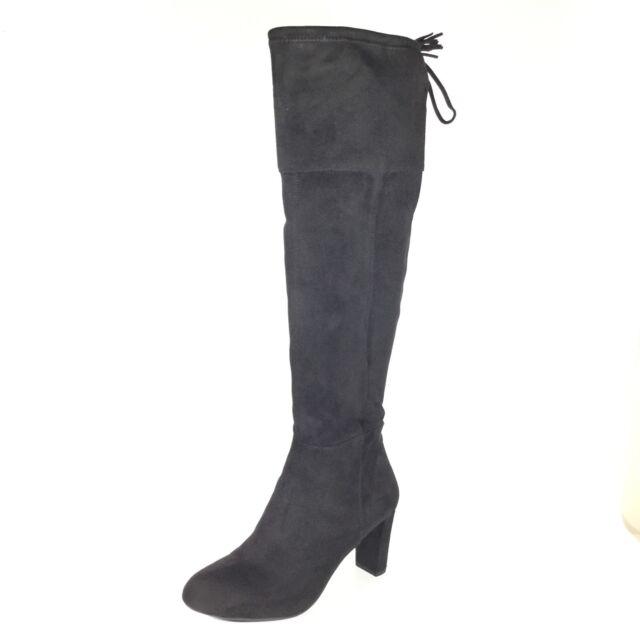 0e90738241d Inc International Concepts Hadli Women Shoes Black Suede Over Knee BOOTS Sz  9 M