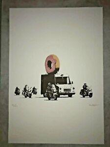 Banksy - Litografía - 50x35 - Firma a Lápiz Sello Artista Tamaño