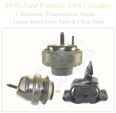 Motor Mount Rear Right Fit 99//03 Ford Windstar 3.8L