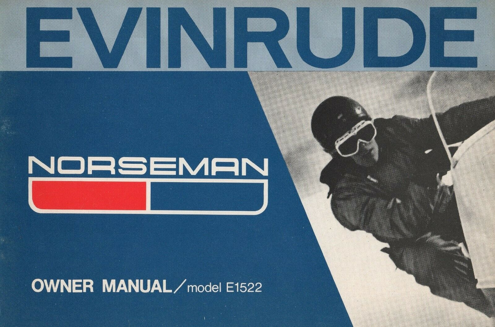 1972 EVINRUDE SNOWMOBILE NORSEMAN OWNERS  MANUAL P N 290594 (226)  no.1 online