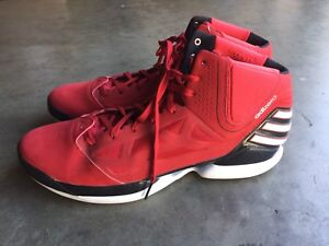f3a29bf03dc5 Image is loading Adidas-Adizero-Rose-2-5-sz-19-Red-