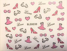 Accessoire ongles nail art , Stickers autocollants, motifs girly